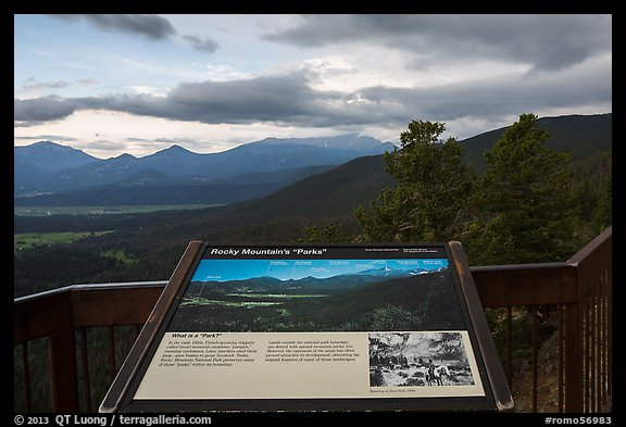 Interpretive sign, Parks. Rocky Mountain National Park (color)