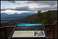 Interpretive sign, Parks. Rocky Mountain National Park ( color)