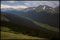 Kawuneeche Valley and Never Summer Mountains. Rocky Mountain National Park ( color)