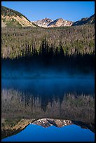 Never Summer Mountains reflected in beaver pond. Rocky Mountain National Park ( color)