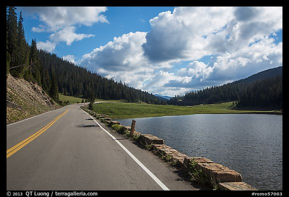 Trail Ridge Road and Poudre Lake. Rocky Mountain National Park (color)