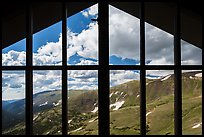 View from inside Alpine Visitor Center. Rocky Mountain National Park ( color)