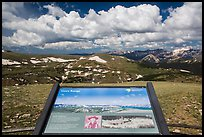 Interpretive sign, Gore Range. Rocky Mountain National Park ( color)