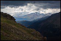 Longs Peak range under dark skies. Rocky Mountain National Park ( color)