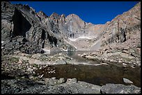 Chasm Lake and Longs Peak, morning. Rocky Mountain National Park ( color)