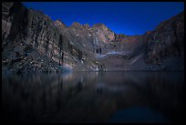 Chasm Lake at night. Rocky Mountain National Park ( color)