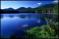 Sprague Lake, morning. Rocky Mountain National Park, Colorado, USA.