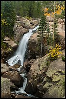 Alberta Falls in autumn. Rocky Mountain National Park ( color)