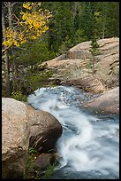 Brink of Alberta Falls. Rocky Mountain National Park ( color)