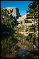 Hallet Peak and Dream Lake reflections. Rocky Mountain National Park ( color)