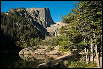 Hallet Peak rising above Dream Lake. Rocky Mountain National Park ( color)