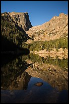 Dream Lake, Hallet Peak and Flattop Mountain. Rocky Mountain National Park ( color)