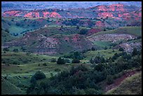 Sunset light over North Dakota badlands. Theodore Roosevelt National Park ( color)
