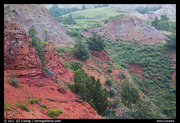 Red soil, Scoria Point. Theodore Roosevelt National Park (color)
