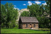 Roosevelt Maltese Cross cabin. Theodore Roosevelt National Park, North Dakota, USA. (color)