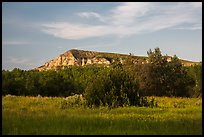 Badlands in late afternoon, Elkhorn Ranch Unit. Theodore Roosevelt National Park ( color)