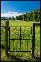 Entrance gate to Roosevelt Elkhorn Ranch site. Theodore Roosevelt National Park ( color)