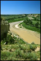 Little Missouri River. Theodore Roosevelt National Park, North Dakota, USA.