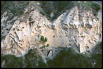 Wind Canyon walls. Theodore Roosevelt National Park ( color)