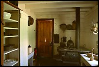 Kitchen of Roosevelt's Maltese Cross Cabin. Theodore Roosevelt National Park, North Dakota, USA.