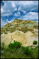Colorfull badlands, North Unit. Theodore Roosevelt National Park, North Dakota, USA. (color)