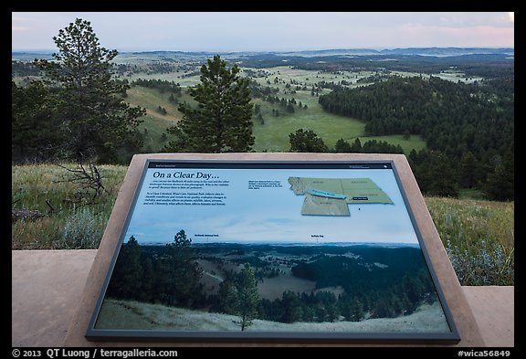 Interpretive sign, Rankin Ridge view. Wind Cave National Park (color)