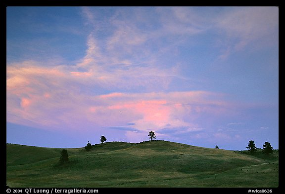 Hills, sunset. Wind Cave National Park (color)
