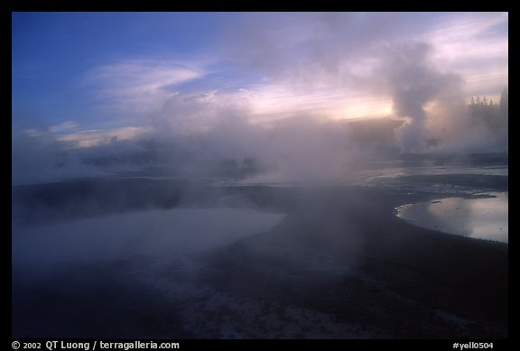 Thermal activity at Norris geyser basin. Yellowstone National Park, Wyoming, USA.