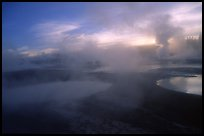 Thermal activity at Norris geyser basin. Yellowstone National Park ( color)