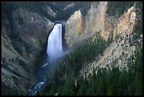 Lower Falls of the Yellowstone river. Yellowstone National Park, Wyoming, USA.