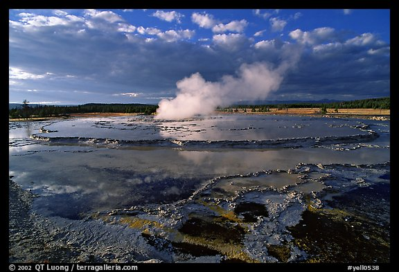 Great Fountain geyser. Yellowstone National Park (color)