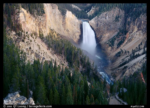 Lower Falls of the Yellowstone river. Yellowstone National Park (color)