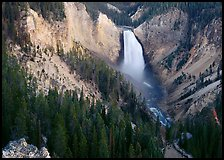 Canyon and Lower Falls of the Yellowstone river. Yellowstone National Park ( color)