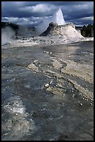 Castle Geyser in Upper Geyser Basin. Yellowstone National Park ( color)