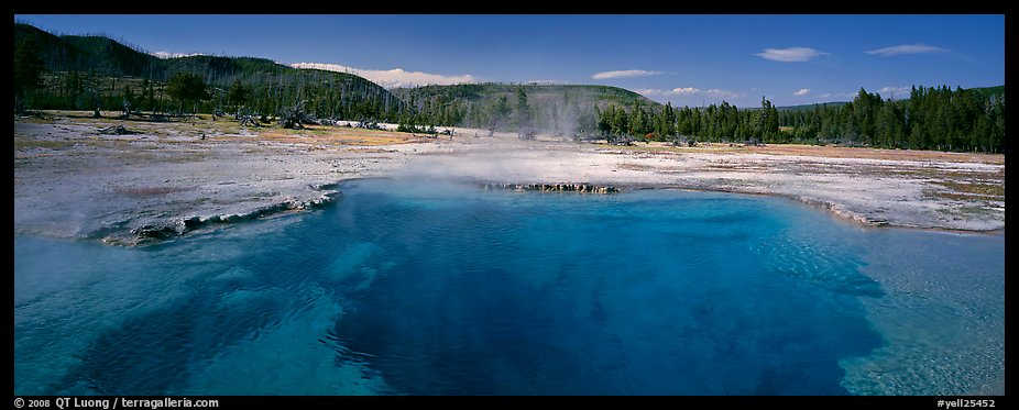 Thermal scenery with hot springs. Yellowstone National Park (color)
