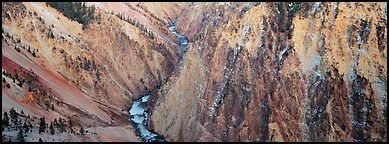 Grand Canyon of Yellowstone. Yellowstone National Park (Panoramic color)