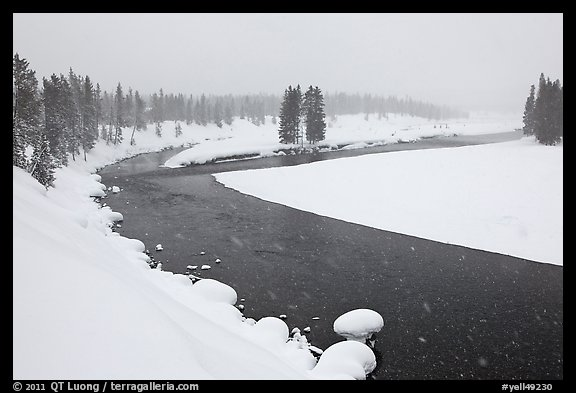 Lewis River in winter. Yellowstone National Park (color)