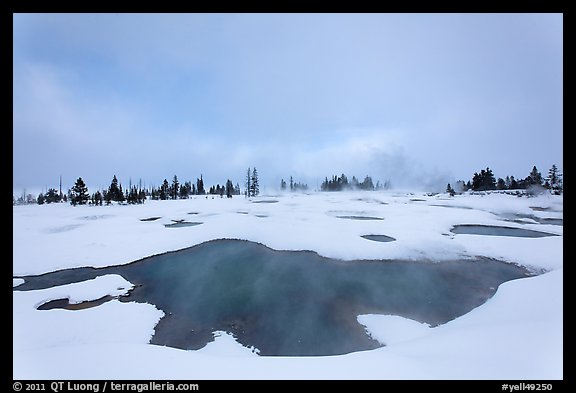 West Thumb Geyser Basin in winter. Yellowstone National Park (color)