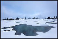 West Thumb Geyser Basin in winter. Yellowstone National Park, Wyoming, USA.