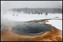 Crested Pool in winter. Yellowstone National Park, Wyoming, USA. (color)