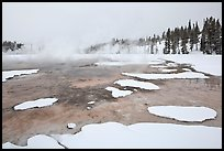 Chromatic Spring in winter. Yellowstone National Park, Wyoming, USA. (color)