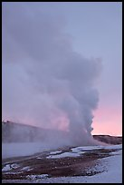 Old Faithful Geyser, daww eruption. Yellowstone National Park ( color)