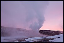 Old Faithful Geyser at dawn. Yellowstone National Park ( color)