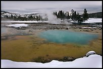 Sapphire Pool in winter. Yellowstone National Park, Wyoming, USA. (color)