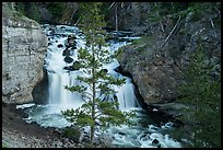 Firehole Falls in Firehole Canyon. Yellowstone National Park ( color)