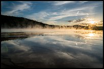 Sunset, Grand Prismatic Springs. Yellowstone National Park ( color)