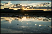 Reflections at sunset, Grand Prismatic Springs. Yellowstone National Park ( color)