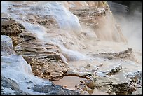 Travertine terraces, Canary Springs. Yellowstone National Park ( color)