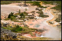 Artist Paint Pots thermal area. Yellowstone National Park ( color)