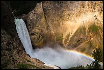 Lower Falls and rainbow, Grand Canyon of the Yellowstone. Yellowstone National Park ( color)